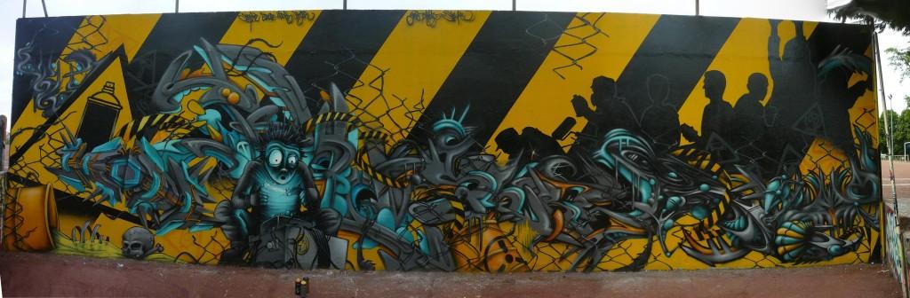 Deco Chambre Kirikou : Fresques graffiti l air des yeux