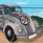 Reproduction Cox VW à l'aérosol