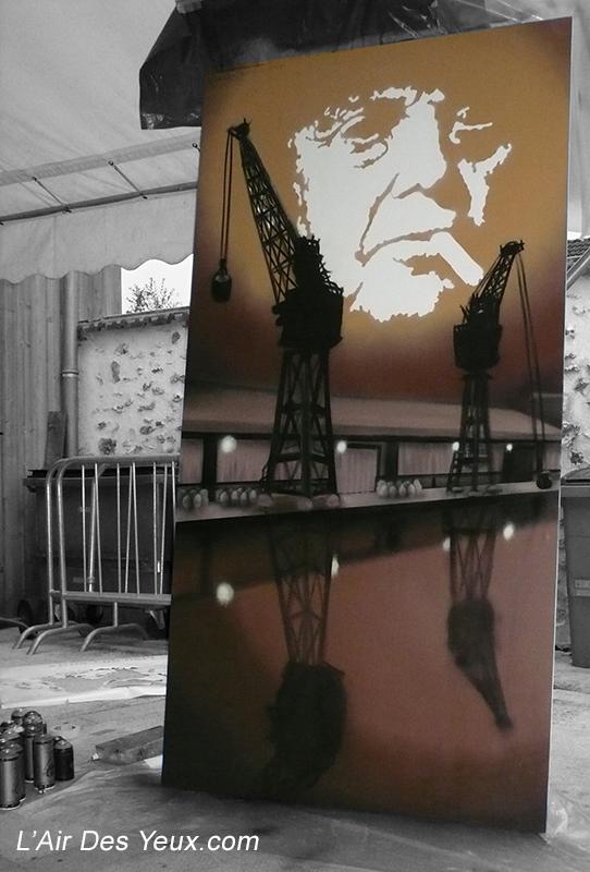 Mac Orlan - JEODE HUMAN (77) Oct. 2008 - 1,25m x 2,50m