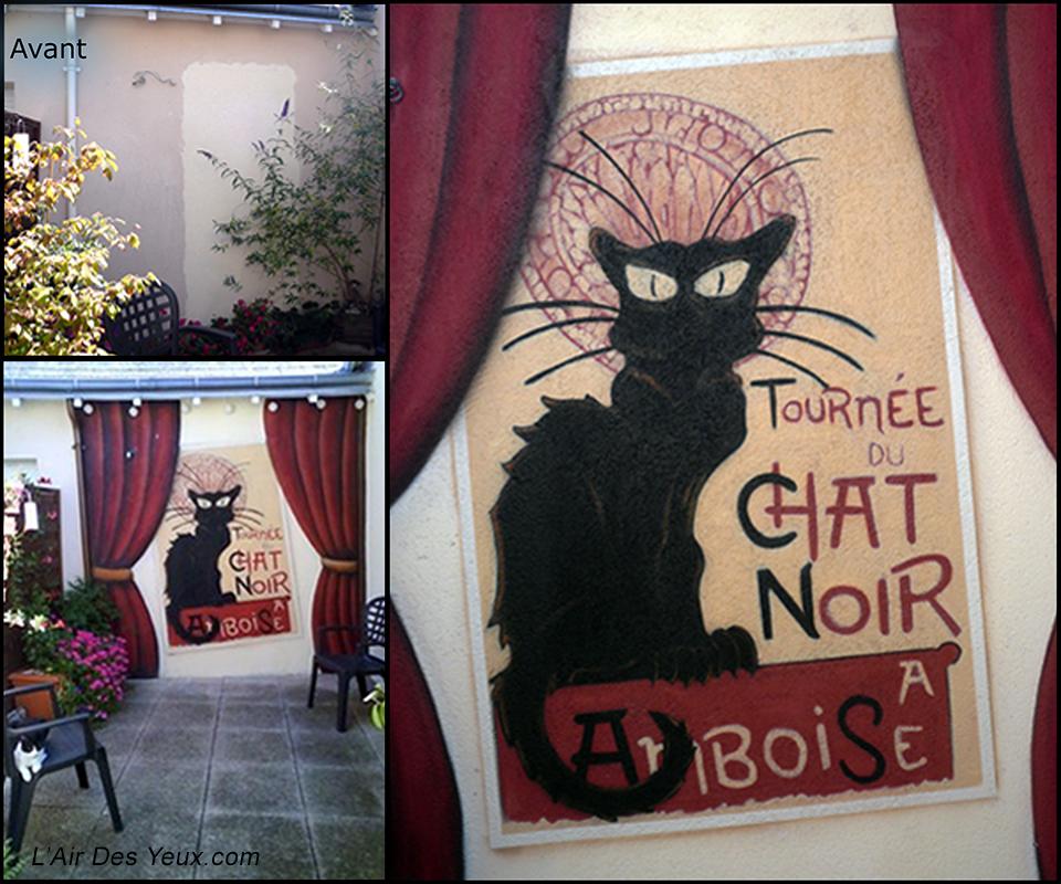 Le Chat Noir à Amboise - JEODE (37) Juillet 2009 - 2,50m x 2,10m