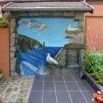 Trompe l'oeil - Les mouettes - JEODE (77) - Juillet 2011 - 2,50m x 2,50m