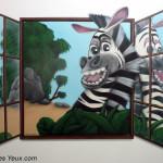 Chambre trompe l'oeil Marty - JEODE (77) - Juillet 2010 - 2m x 1,65m
