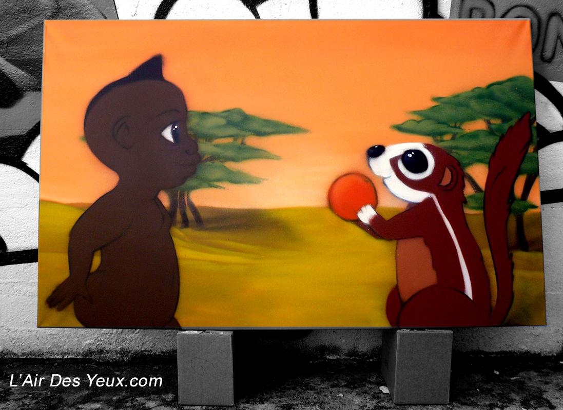 toile kirikou - JEODE - Mai 2010 - 1,20m x 0,80m