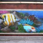 trompe l'oeil aquarium (77) JEODE - Mai 2013 (1,50m x 0,90m)