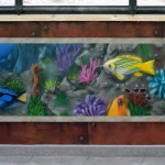Trompe l'oeil aquarium 2 (77) JEODE - Mai 2013 (3,50m x 0,90m)