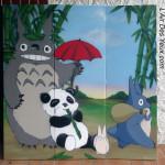 Eliott et les Totoro (77) JEODE - Oct. 2014 (1,50m x 1,50m)